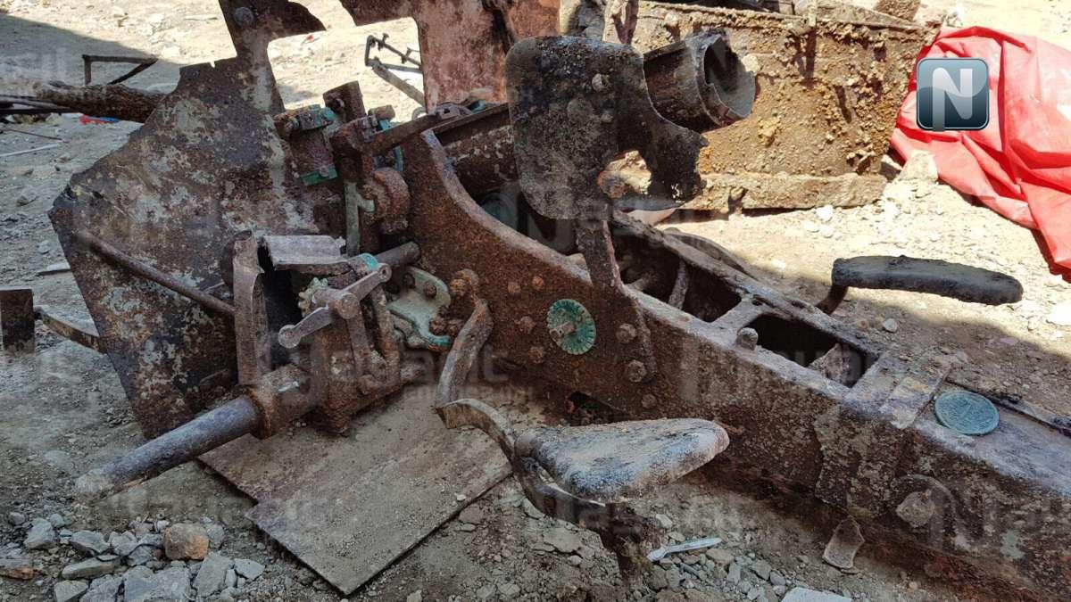 Hallan cañón de la Revolución Mexicana en obra del Mercado Morelos, Tepic.  Canon3