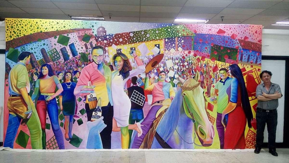 Develan en los ngeles california mural del pintor for El mural jalisco